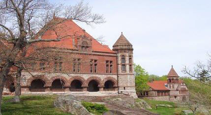 National-Trust-photo-Hall-and-library Oakes Ames Memorial Hall North Easton MA