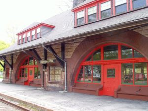 H.H. Richardson designed Old Colony Railroad Station in Easton, MA (image credit: Daderot)