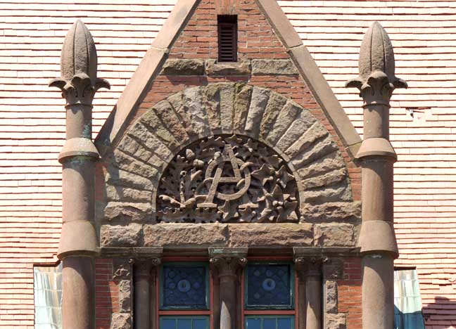 Dormer, Oakes Ames Memorial Hall (image credit: Buffalo Architecture and History)