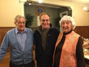 From left to right: Maurice Kent, Phil Kent (son of Leo and Eleanor Kent),. and Alice McCarthy